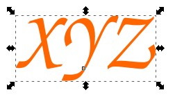 color text object inkscape